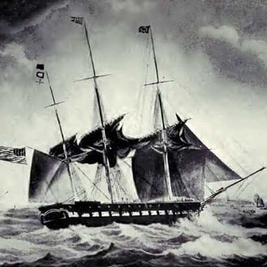 USS Brandywine: The Ship Lafayette arrived on